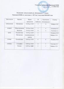 график консультацимй 9 класс Равнецкая ООШ